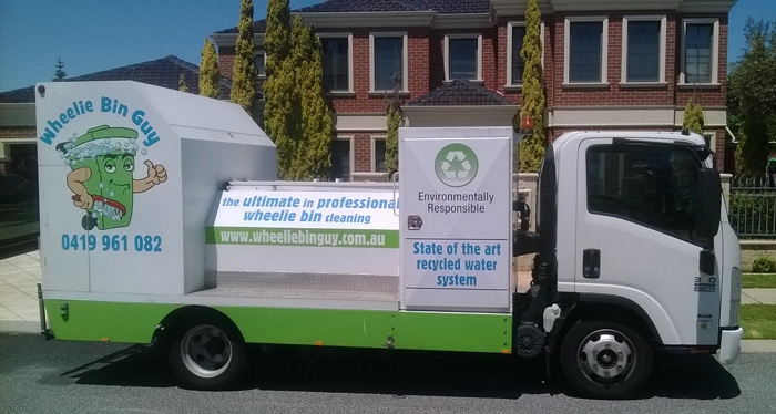 wheelie bin cleaning perth truck